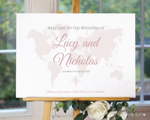Where in the World Printable Welcome Sign
