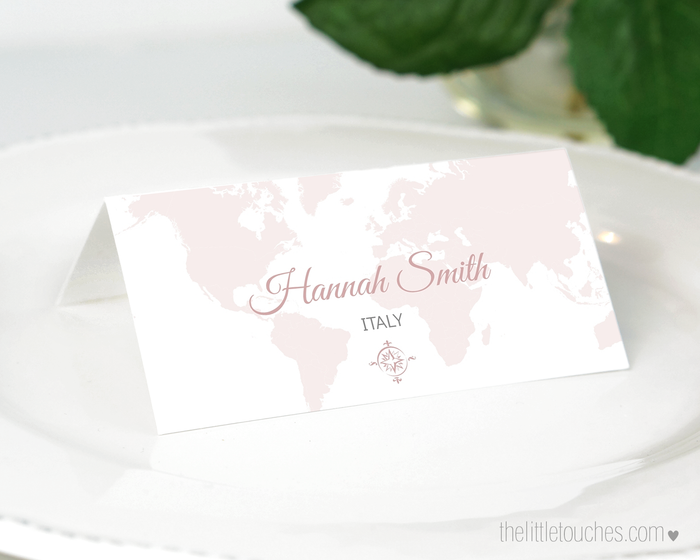 Where in the World Printable Travel Place Settings