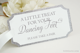 Large Dancing Feet Glitter Tag