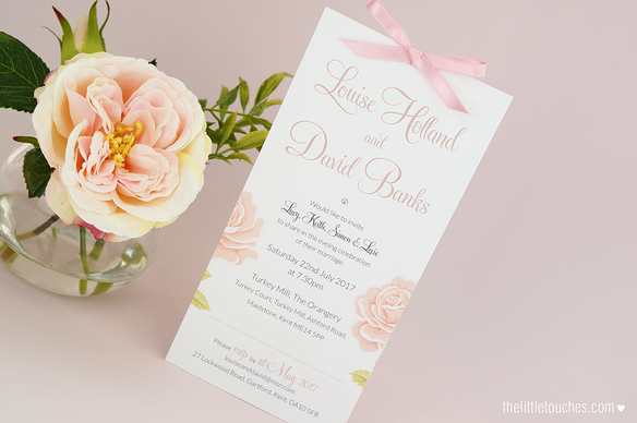 English Rose Evening Wedding Invitations