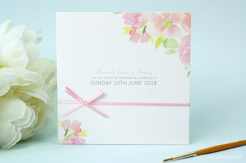 Floral Watercolour Wedding Invitations - The Little Touches