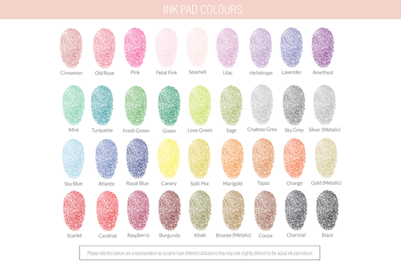 Additional Ink Pads for Fingerprint Trees