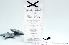 Winter Snowflake Evening Wedding Invitations