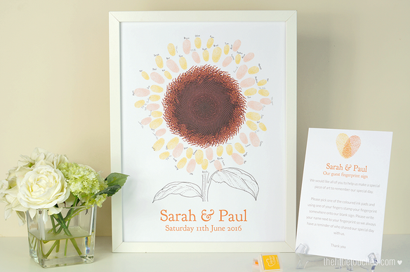 Sunflower Themed Fingerprint Print