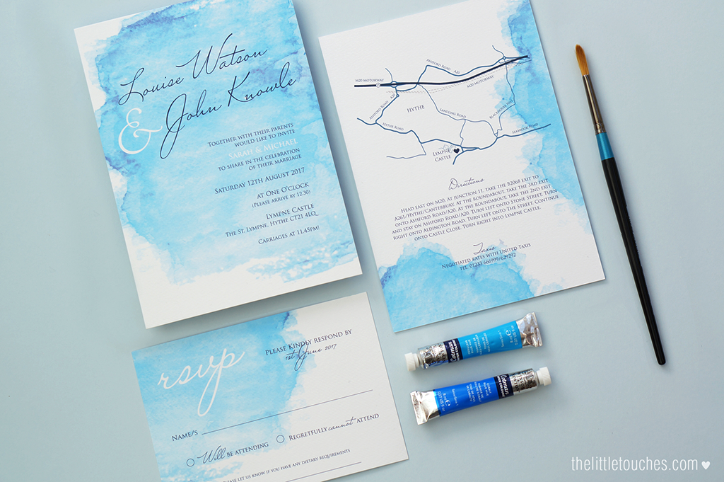 watercolour wedding invitations the little touches
