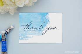 Watercolour Thank You Postcards