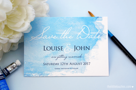 Watercolour Save the Date Cards