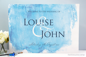Watercolour Welcome Sign