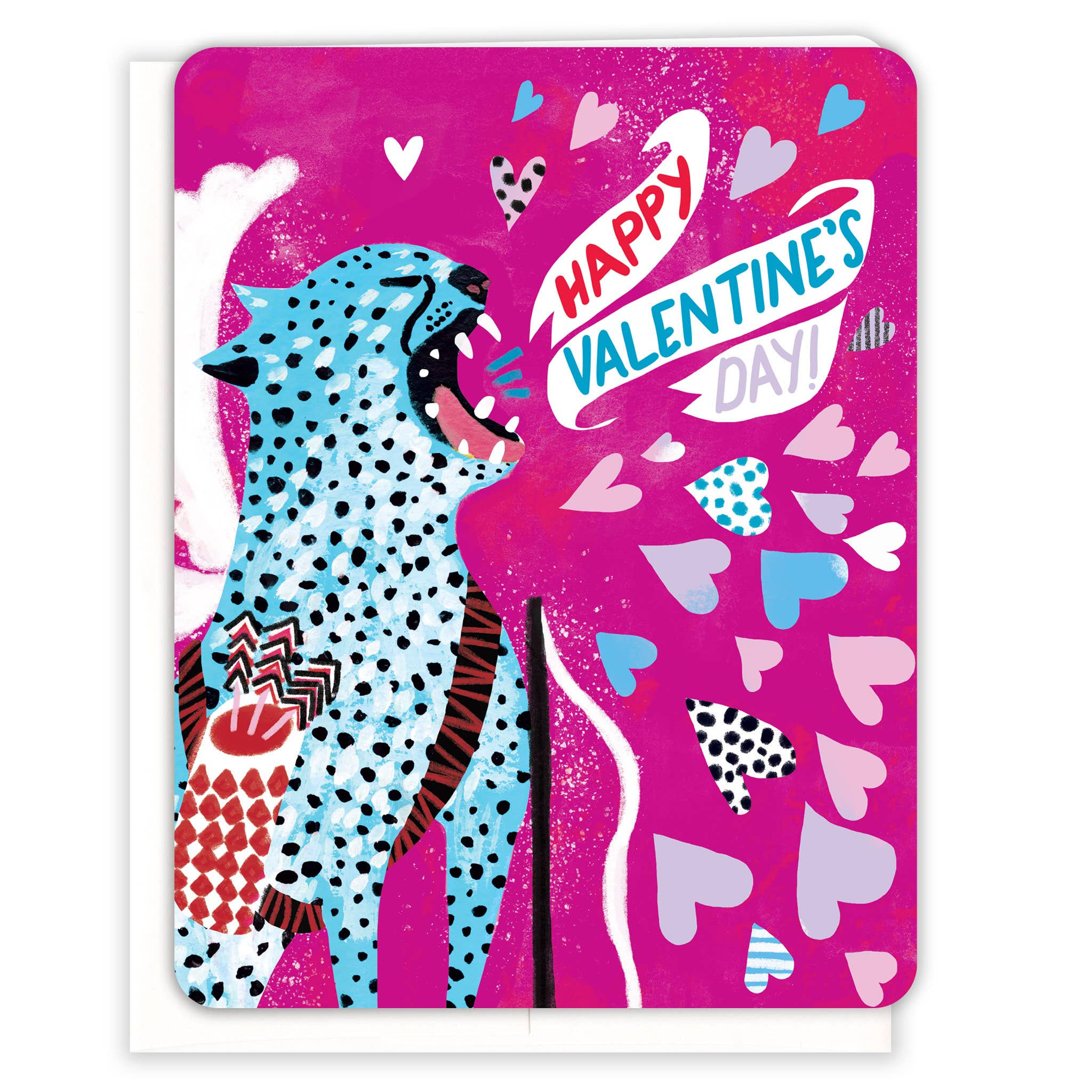 Wild Cat Cupid Valentine's Day Card