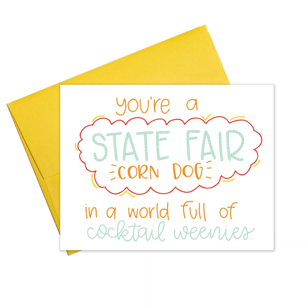 State Fair Corn Dog Card