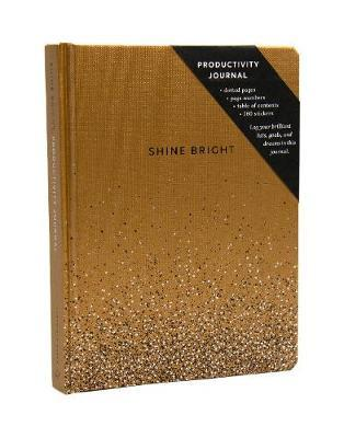 SHINE BRIGHT PRODUCTIVITY JOURNAL, GOLD