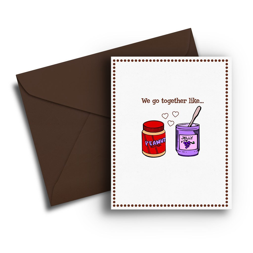 Peanut Butter & Jelly Love Card