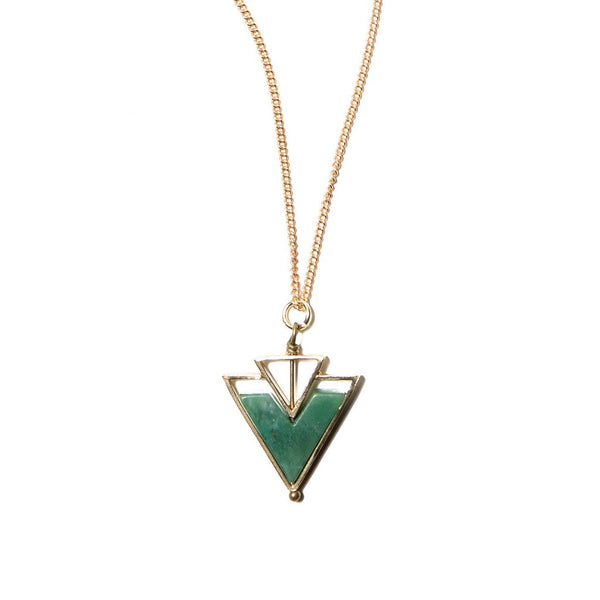 African Jade Chevron Necklace by Michelle Starbuck Designs