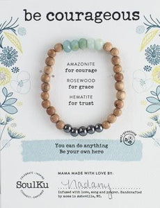 AMAZONITE BE YOUR OWN HERO BRACELET FOR BE COURAGEOUS