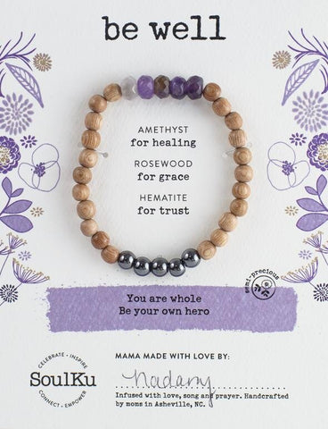 AMETHYST BE YOUR OWN HERO BRACELET FOR BE WELL