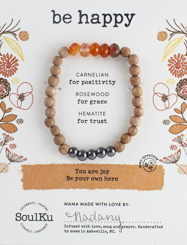CARNELIAN BE YOUR OWN HERO BRACELET FOR BE HAPPY