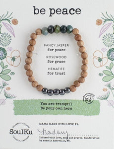 FANCY JASPER BE YOUR OWN HERO BRACELET FOR BE PEACE
