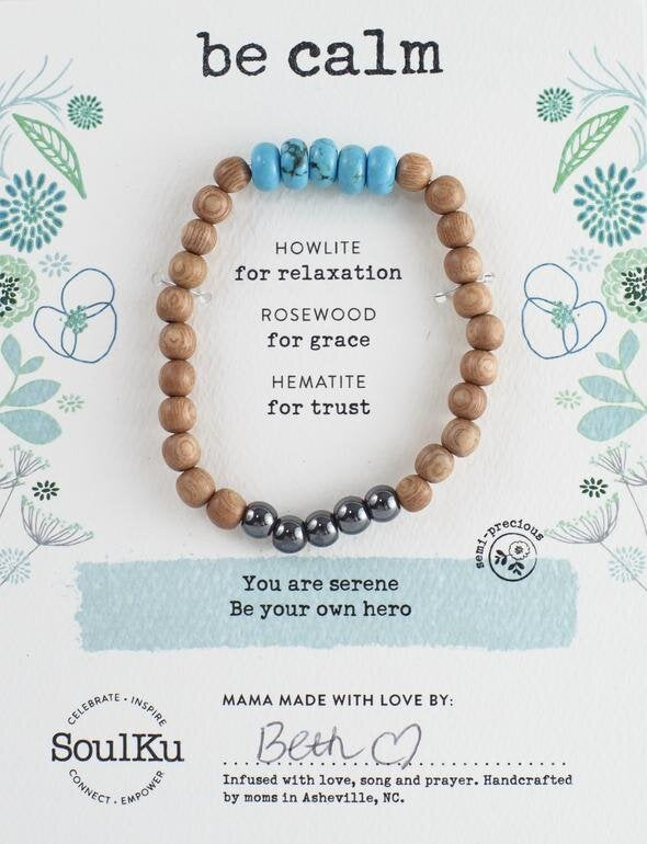 HOWLITE BE YOUR OWN HERO BRACELET FOR BE CALM