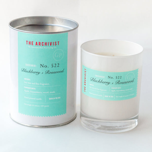 Blackberry + Rosewood 10 oz. Archivist Candle