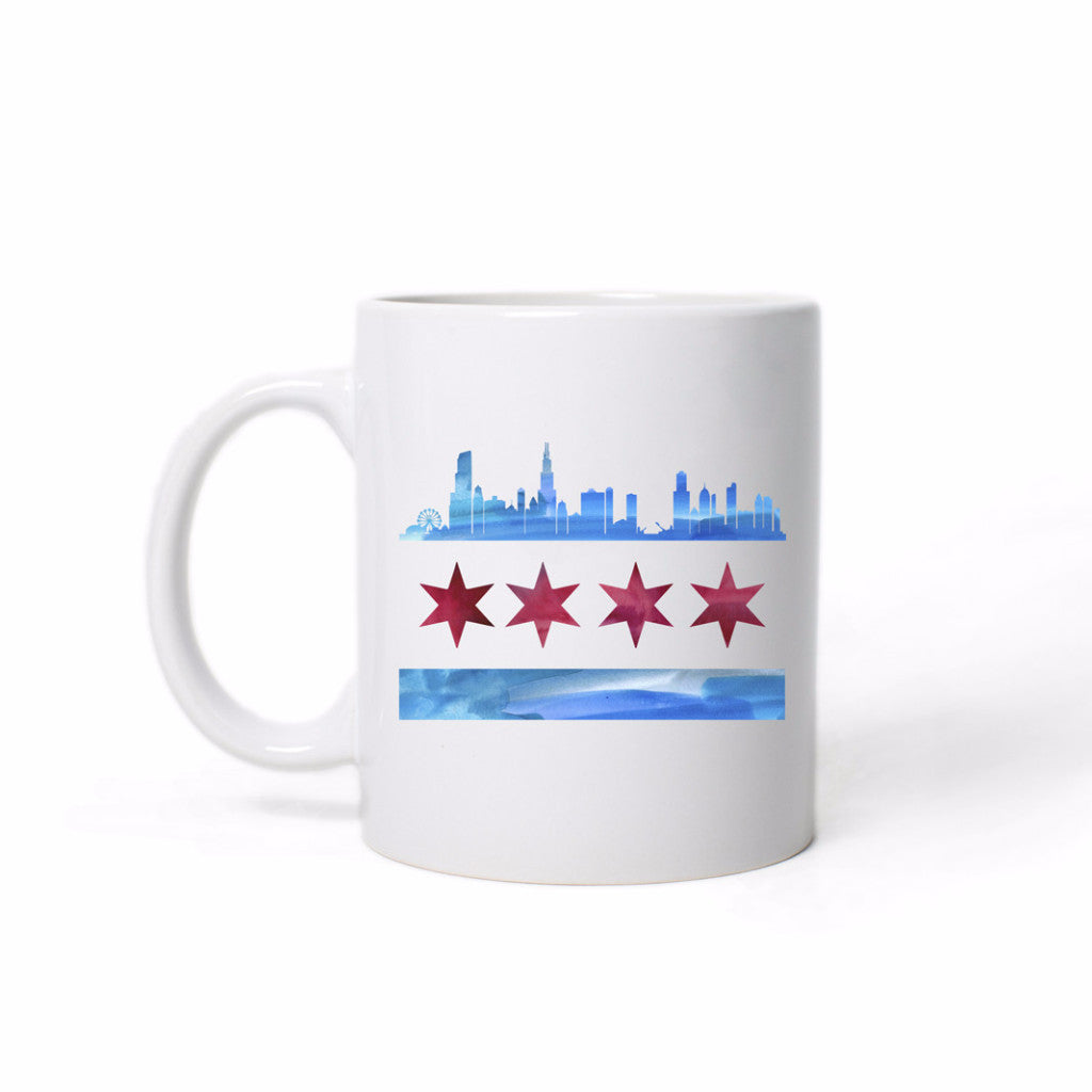 Chicago Flag Skyline Mug - One Strange Bird