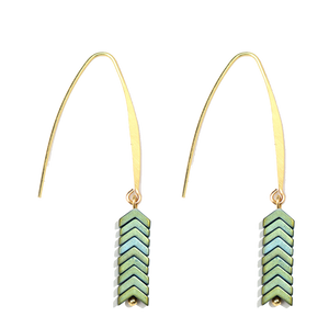 Chevron Dangle Earrings