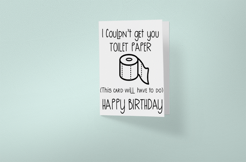 Happy Birthday Day Toilet Paper Card