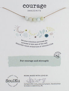 Amazonite Seed Necklace for Courage