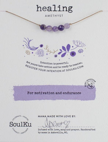 AMETHYST INTENTION NECKLACE FOR HEALING