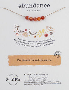 Carnelian Intention Necklace for Abundance