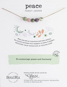 Fancy Jasper Intention Necklace for Peace