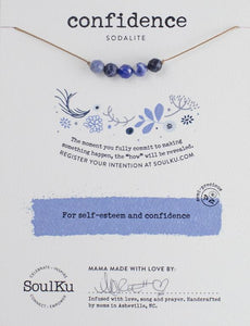 Sodalite Intention Necklace for Confidence