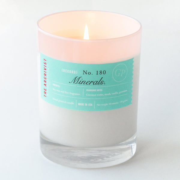 Minerals 10 oz. Archivist Candle