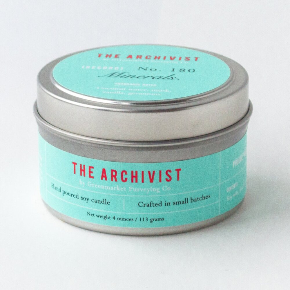Minerals 4 oz. Archivist Candle Tin