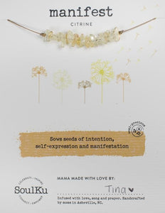 CITRINE GEMSTONE SEED NECKLACE FOR MANIFESTATION