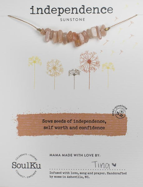 Sunstone Seed Necklace for Independence