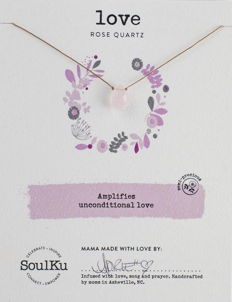 Rose Quartz Soul-Full of Light Necklace for Love