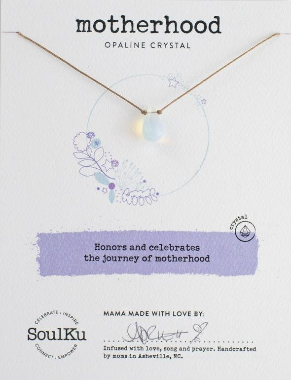 OPALINE CRYSTAL SOUL SHINE NECKLACE HONORING MOTHERHOOD
