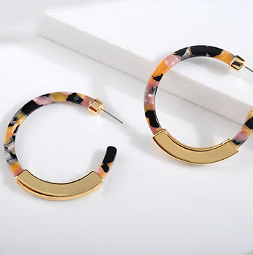 Bohemia Acrylic Acetate Hoop Earrings