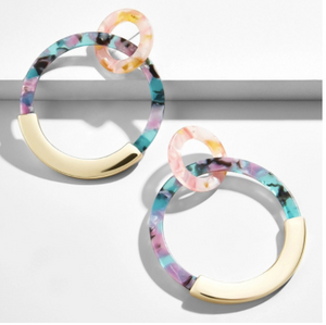 Bohemia Acrylic Double Hoop Earrings
