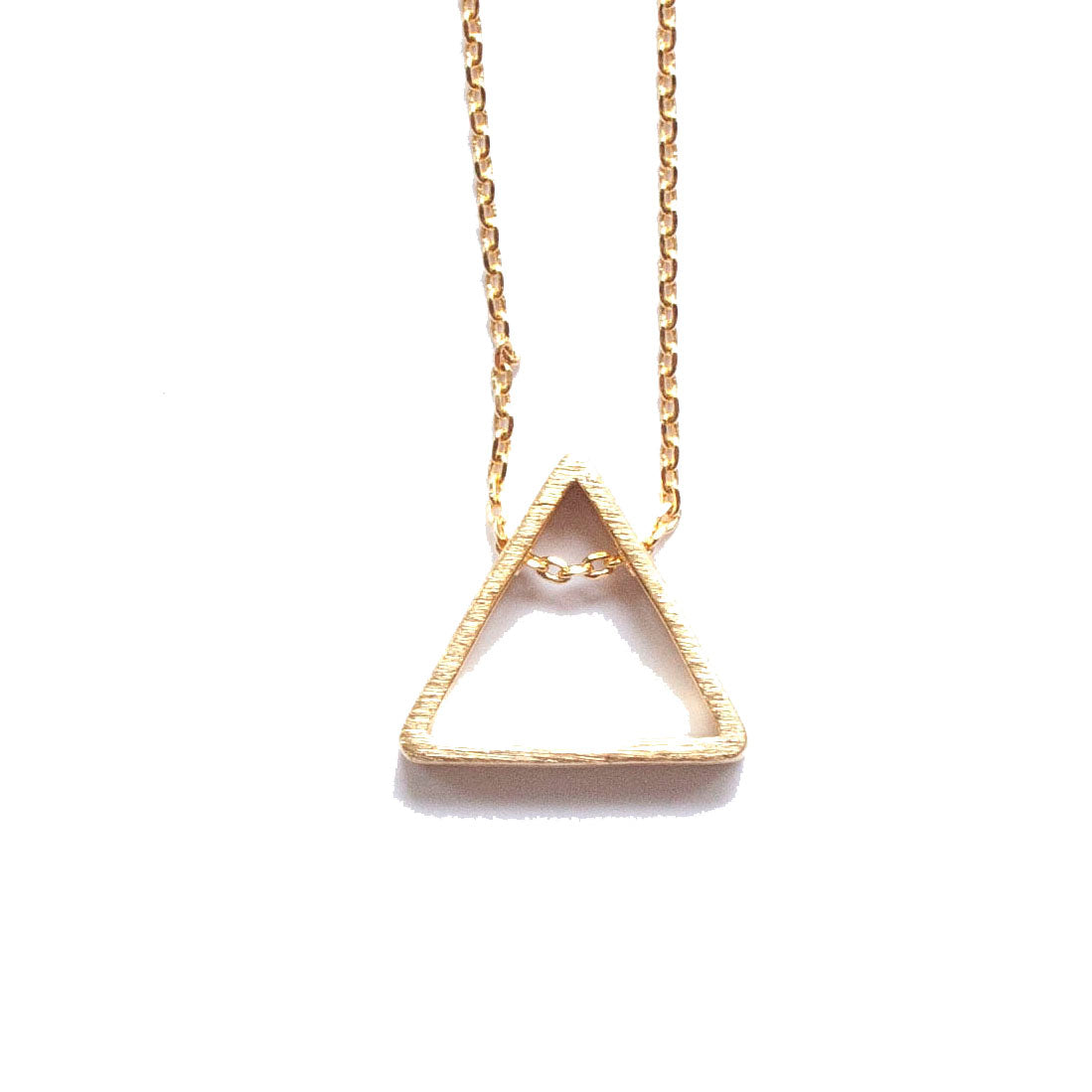Simple Minimalist Triangle Necklace