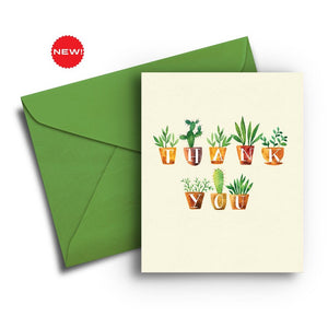 Potted Plants Thank You Card