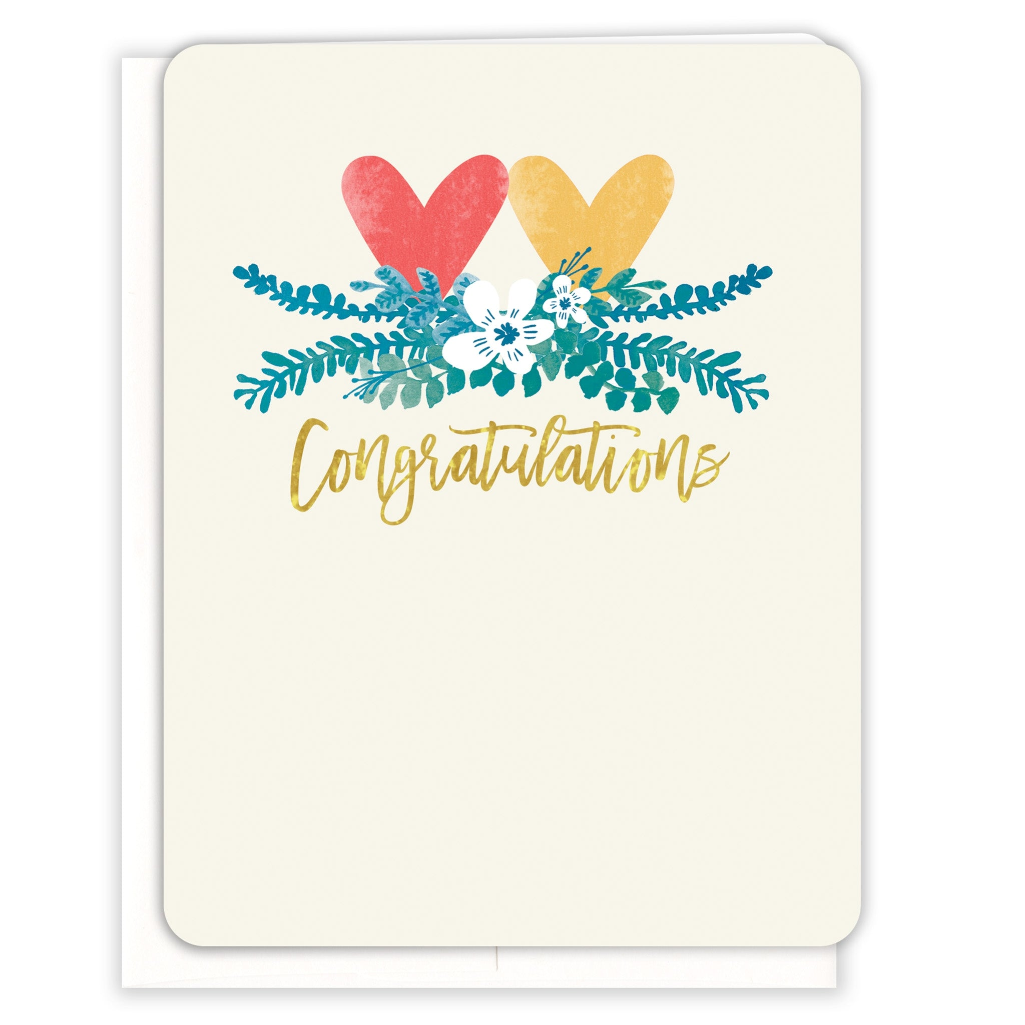Wedding Hearts Congratulations Card