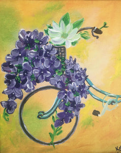 Mother's Day  Bike with Flowers (BYOB) Paint May 10th (2:30pm-4:30pm)
