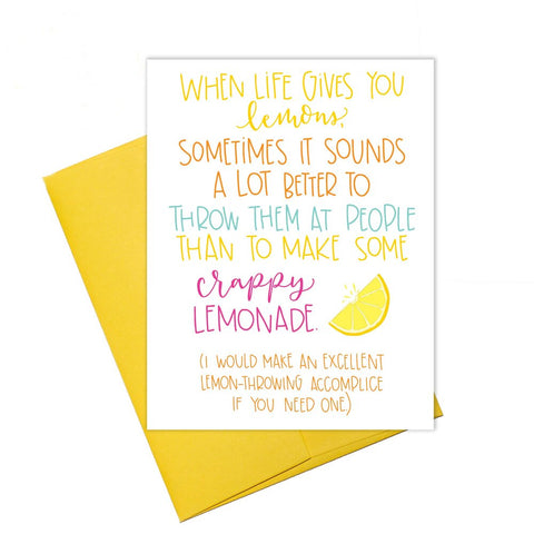 Throwing Lemons Card