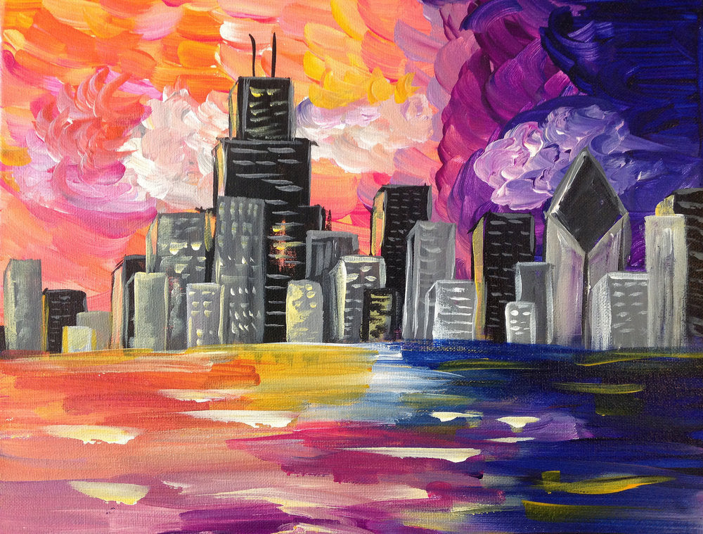 Paint and Sip- Chicago Sunset -6:30-8:30