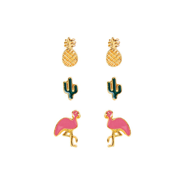 Flamingo, Cactus, and Pineapple Earrings