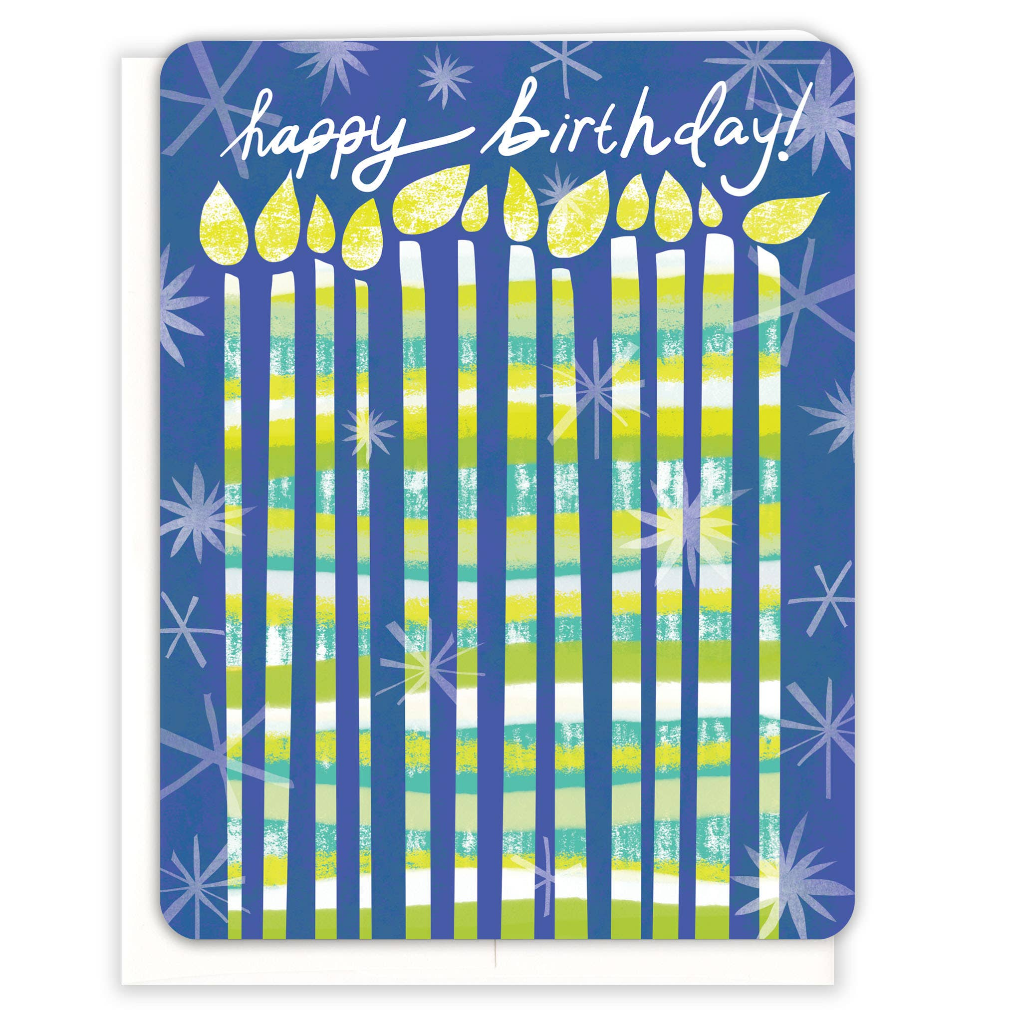 Blue Candles Birthday Card