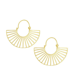 Helios Brass Earrings