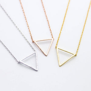 "Tiny Gold Triangle ""Harmony"" Chevron Necklace - Dainty, Simple, Birthday Gift, Wedding Bridesmaid Gift"