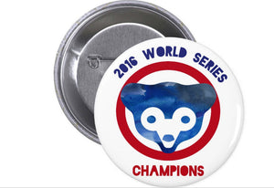 Chicago Cubs World Series Button - One Strange Bird